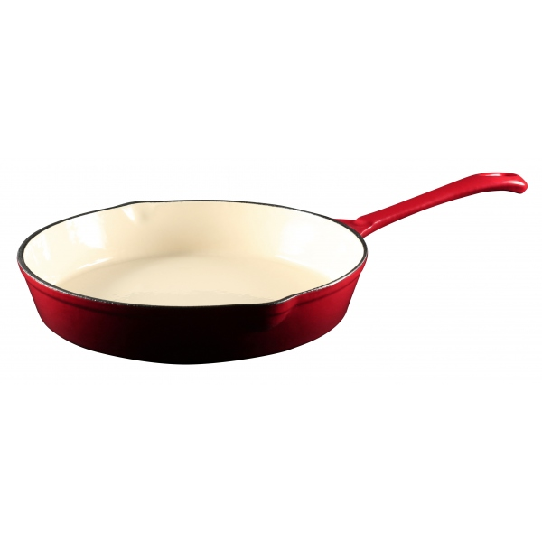 Red Cast Iron Frypan 24cm