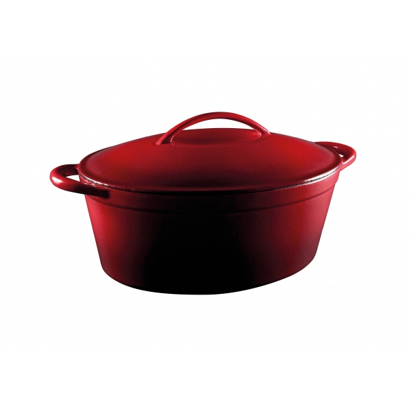 Red Cast Iron Casserole